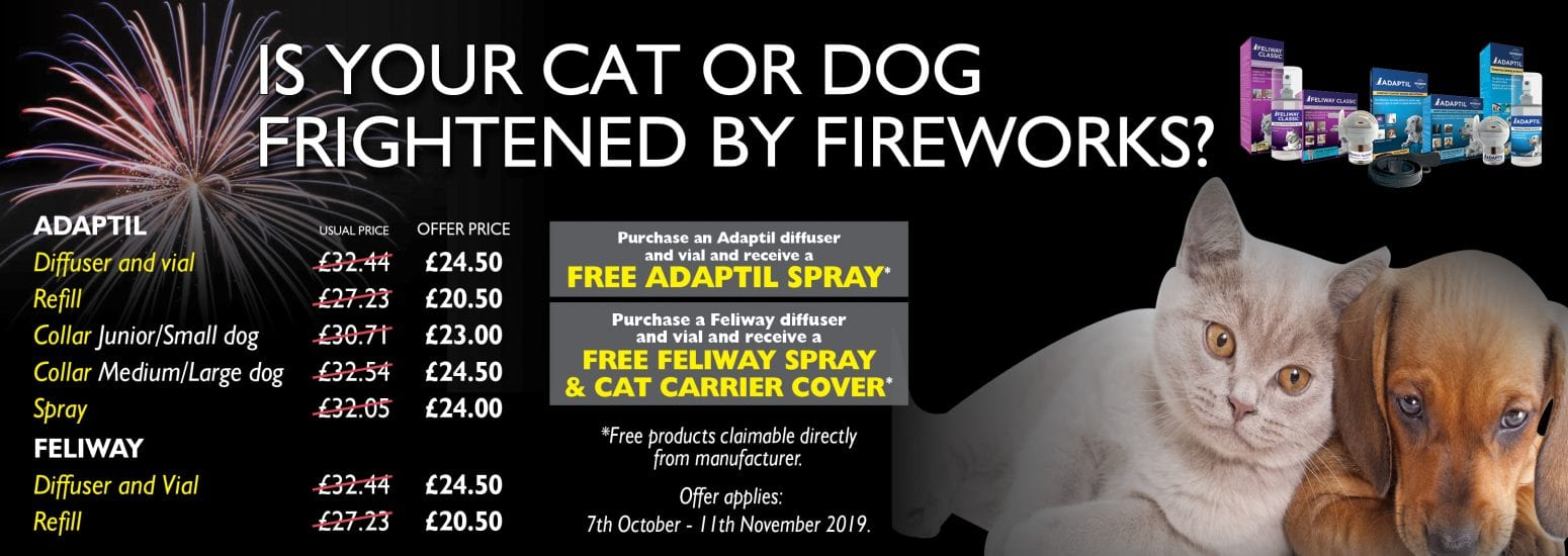 Discount prices on Adaptil and Feliway